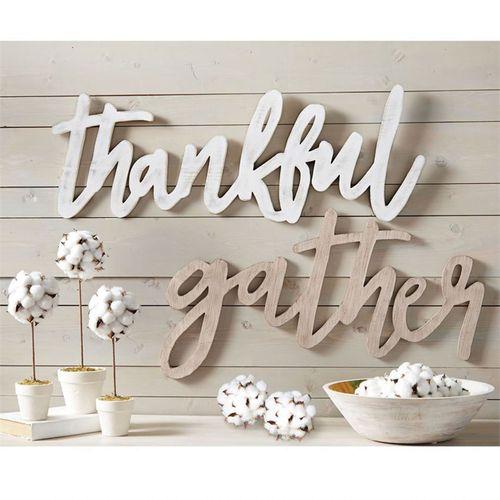 Thankful Wall Art White