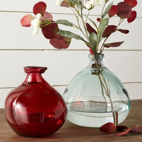 Daliah Vases Red Set of Two