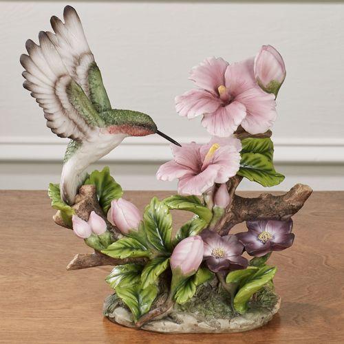 Poised Hummingbird Table Sculpture Mauve