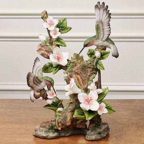 Fluttering Hummingbird Table Sculpture Multi Pastel
