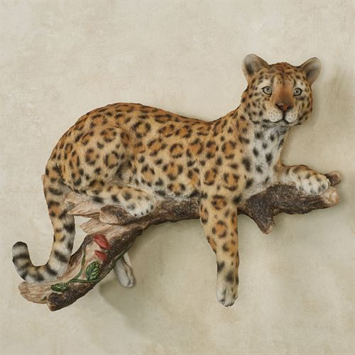 Leopard at Rest Wall Accent Multi Warm