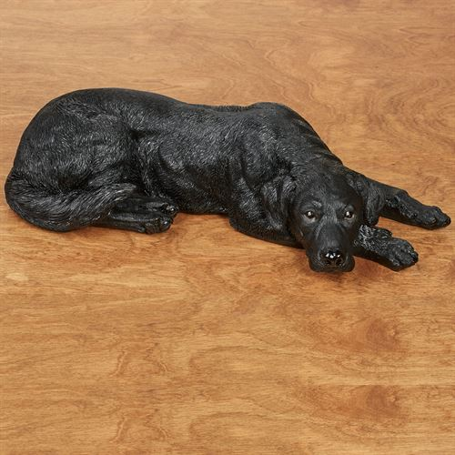 Lovable Labrador Retriever Dog Sculpture Black