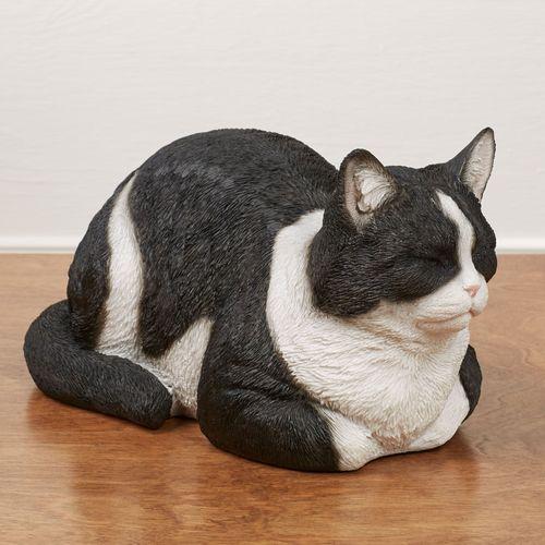 Resting Cat Sculpture Black