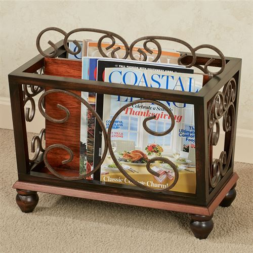 Ashburn Magazine Rack Regal Walnut