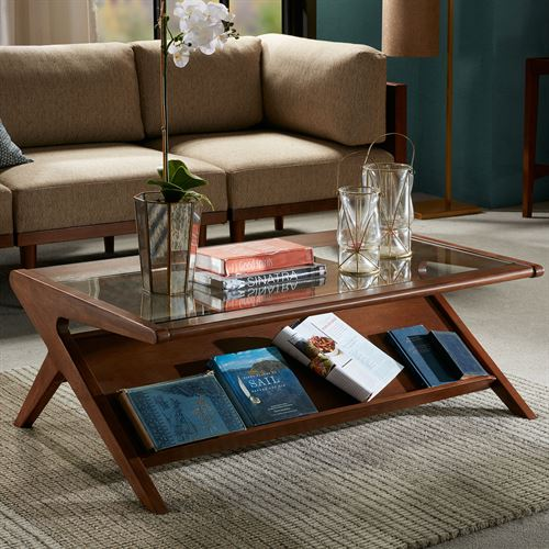 Zinus Coffee Table Pecan