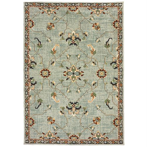 Jerall Rectangle Rug Aqua Mist