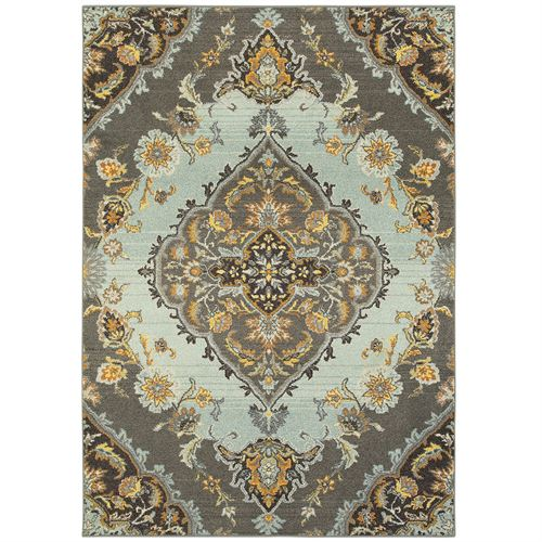 Laudine Rectangle Rug Gray