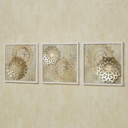 Briella Wall Plaques Gold Set of Three