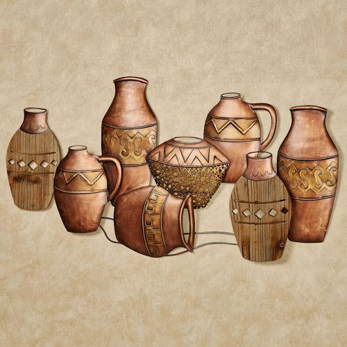 Ancient Pottery Wall Art Copper