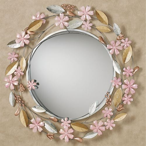 Wildflower Reflections Wall Mirror Blush