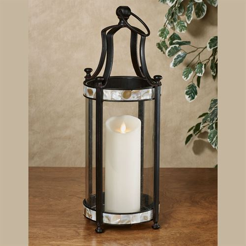 Caprissa Lantern Candleholder Black Large