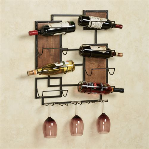 Coulter Wall Wine Rack Black