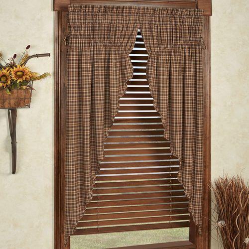 Prescott Prairie Curtain Pair Multi Warm 72 x 63
