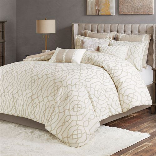 Clarity Comforter Bed Set Ivory