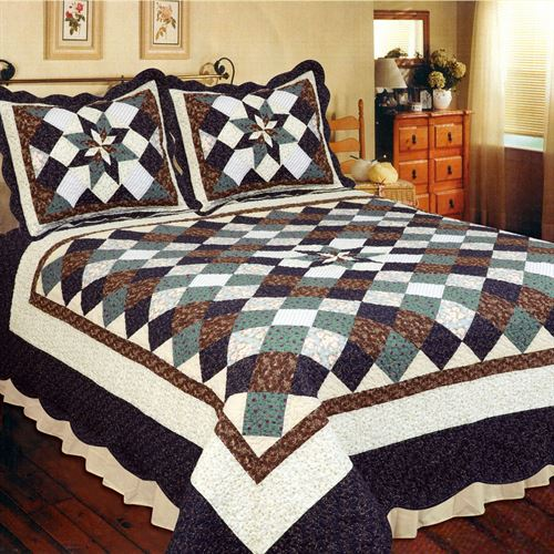 Country Treasure Patchwork Quilt Midnight Blue