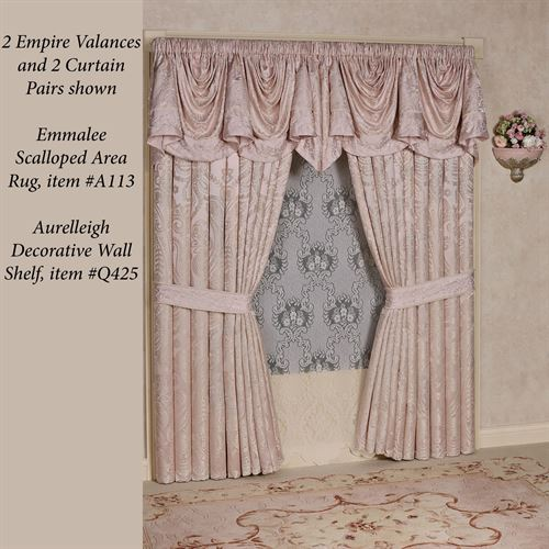 Princess Lined Empire Valance Blush 110 x 28