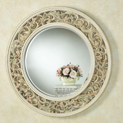 Milena Round Wall Mirror Ivory