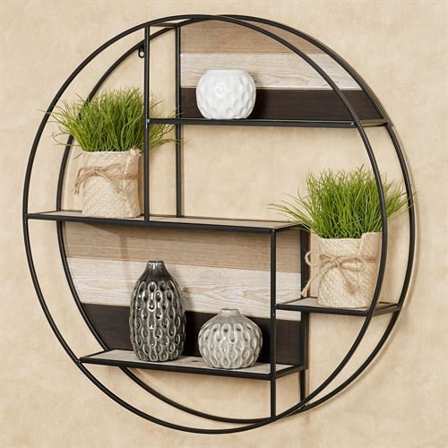 Delray Urban Circle Wall Shelf Black