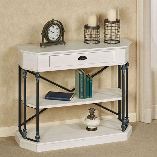 Betaus Console Table Antique White