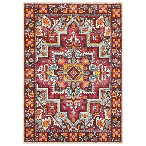 Thema Rectangle Rug Dark Red