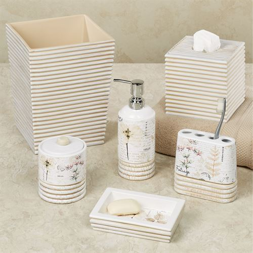 Pressed Leaves Lotion Soap Dispenser Multi Warm