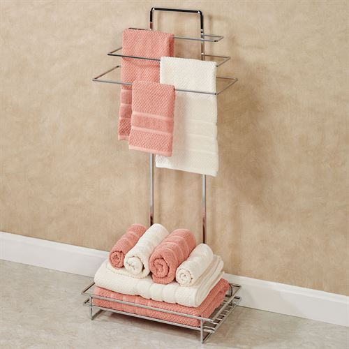 Deco Towel Butler Chrome