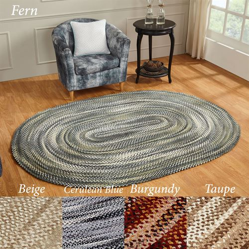 Ombre Chenille Braided Oval Rug