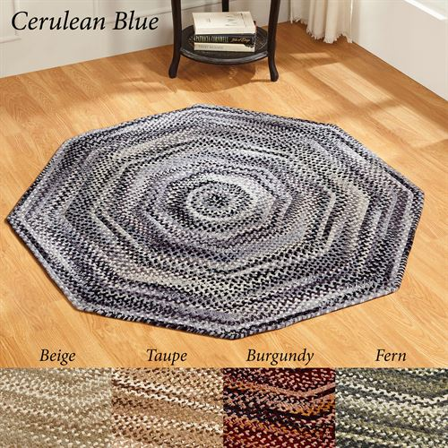 Ombre Chenille Braided Octagon Rug 4 Octagon