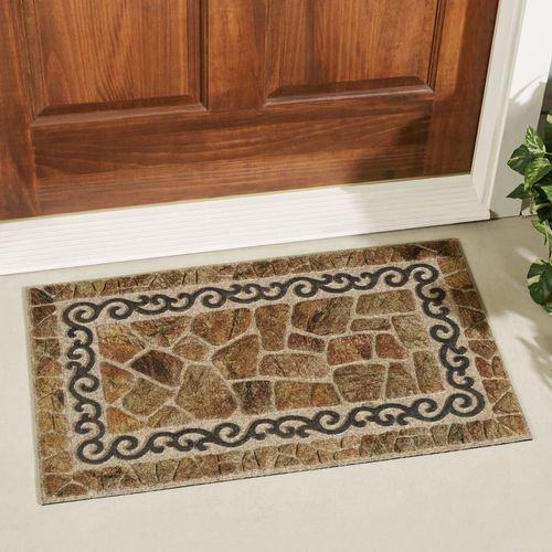 Scroll and Stone Doormat Multi Warm 30 x 18
