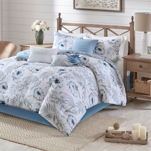 Milo Comforter Bed Set Cerulean Blue