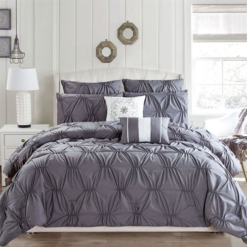 Reverie Comforter Bed Set Dark Gray