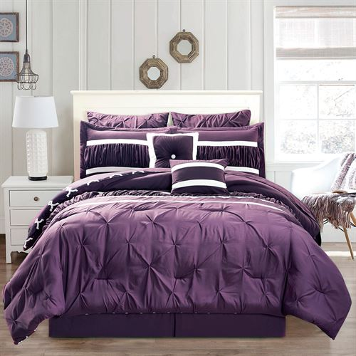 Marlow Bed in a Bag Set Plum