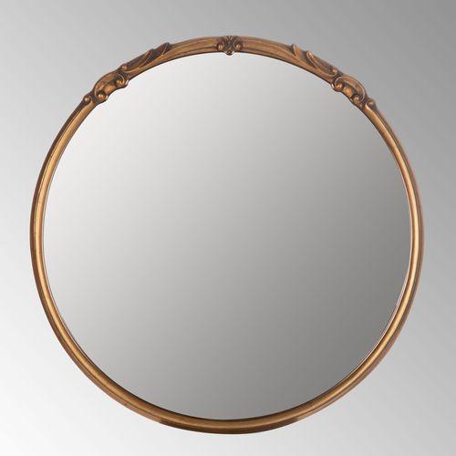 Adira Round Wall Mirror Antique Gold