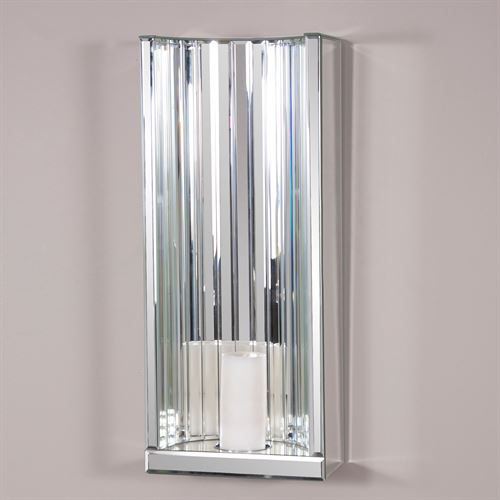 Faceted Mirrored Wall Sconce Clear