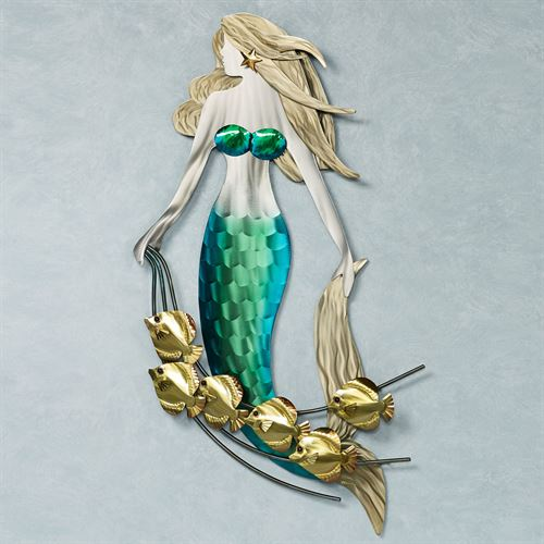 Part of Their World Mermaid Wall Sculpture Multi Metallic