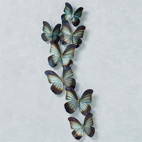 Butterfly Spray Wall Art Blue