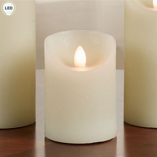 Aurora Flame LED Candle Ivory
