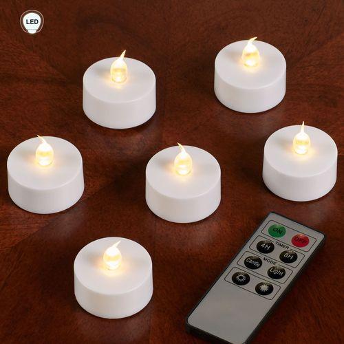 Massimo LED Tealight Candles White Set of Six