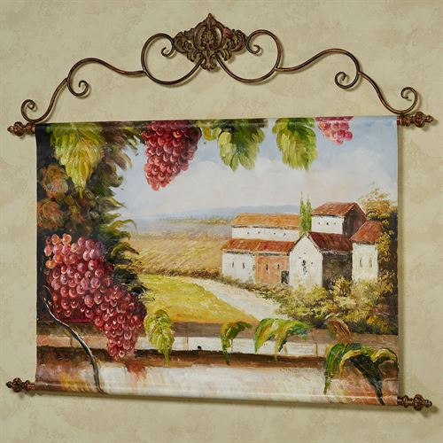 Grape Harvest Canvas Wall Art Hanging Multi Warm
