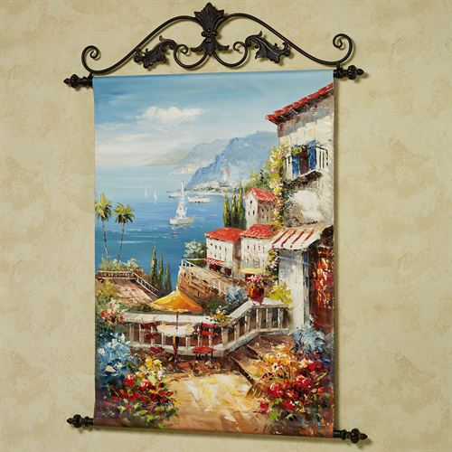 By the Sea Canvas Wall Art Hanging Multi Cool