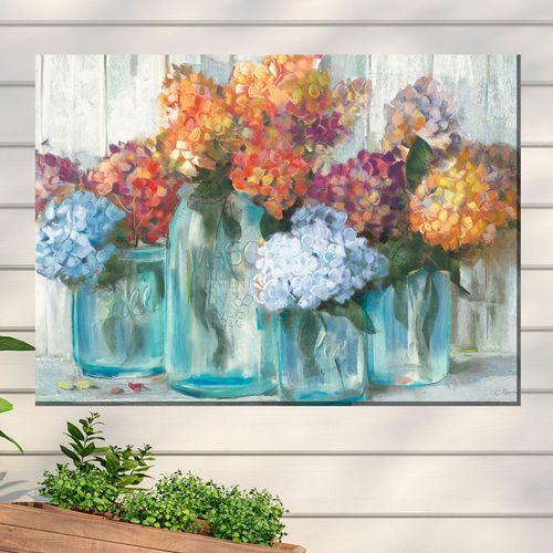 Mason Jars Canvas Wall Art Multi Cool