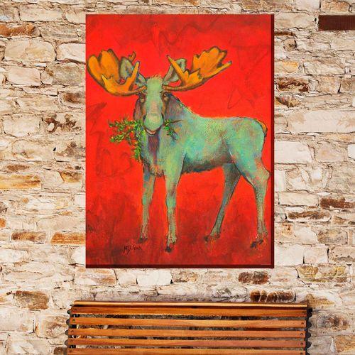 Milton Moose Canvas Wall Art Multi Warm