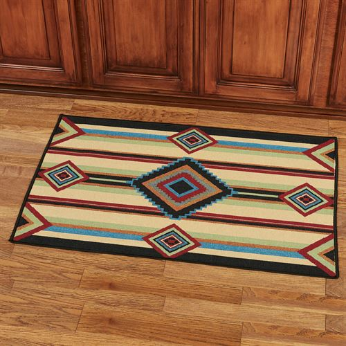 Chief Blanket Accent Rug Multi Warm 36 x 24