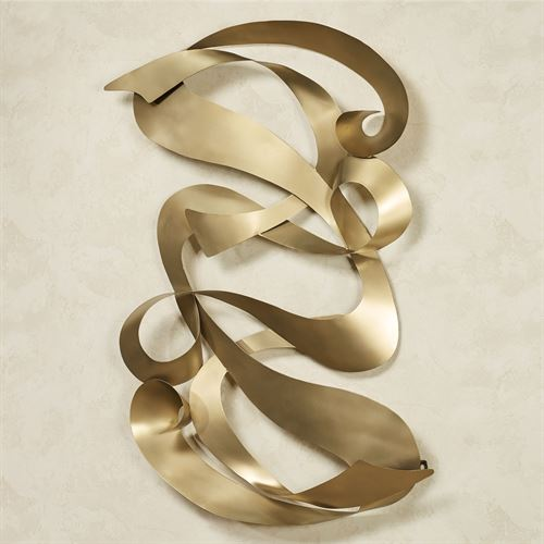 Reverence Abstract Wall Sculpture Satin Gold