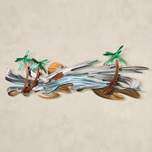 Seaside Tropics Wall Sculpture Multi Metallic