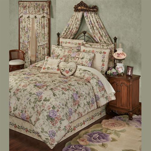 Meadow Floral Comforter Set Champagne