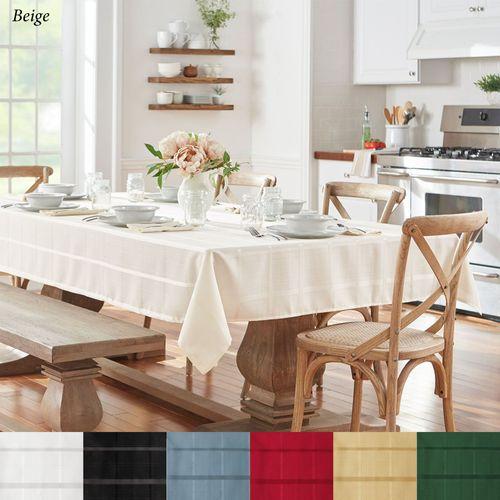 Classic Plaid Oblong Tablecloth