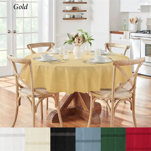 Classic Plaid Round Tablecloth