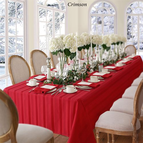 Bennington Stripe Oblong Tablecloth