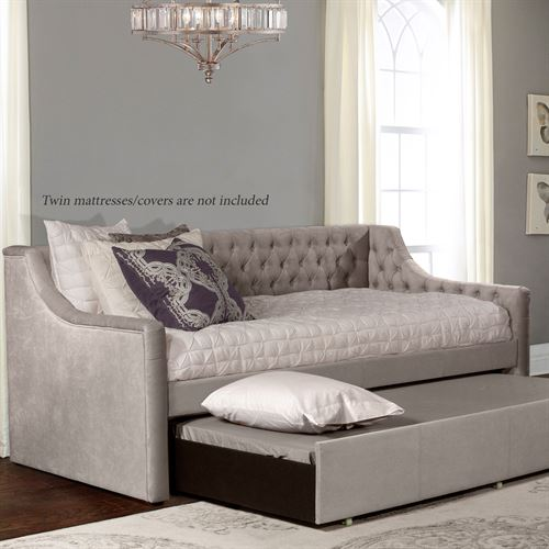 Waterbury Daybed Frame with Trundle Gray Daybed with Trundle